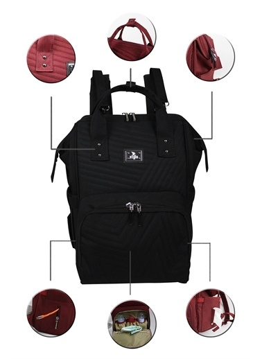 Stylo Stylo Tokyo Platinum All in One Special Edition Backpack Siyah